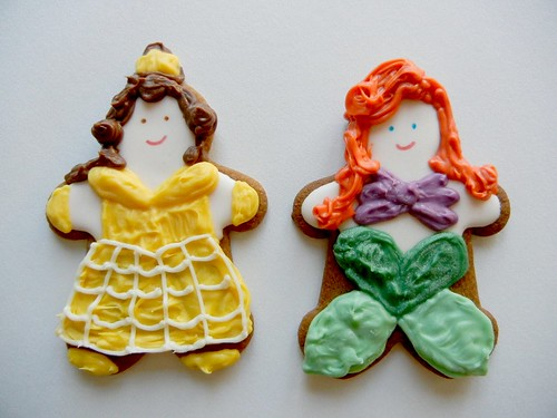belle and ariel cookies
