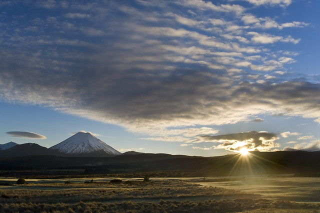 Sunrise at Tongariro National Park