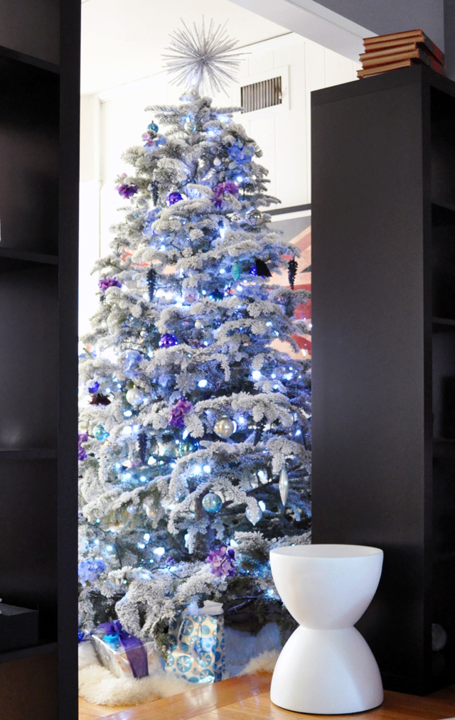 diy christmas tree- blue tree - purple tree