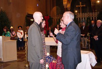 Me & Chris receiving our mission crosses