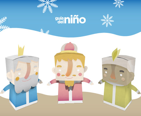 Reyes Magos Paper Toy by ideasconalas