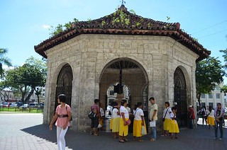 Magellan's cross at Magellanes street in Cebu City in the Philippines