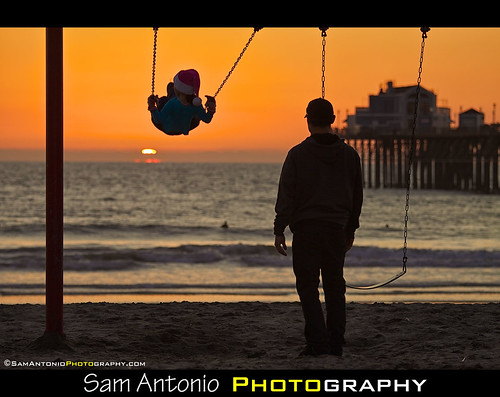 A Swingin' Sunset at the Oceanside Pier by Sam Antonio Photography