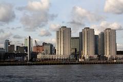 Rotterdam: Boompjes vanaf de Erasmusbrug