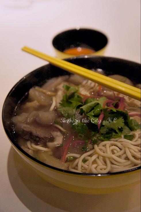Braised Beef Brisket Noodles (RM13.90)