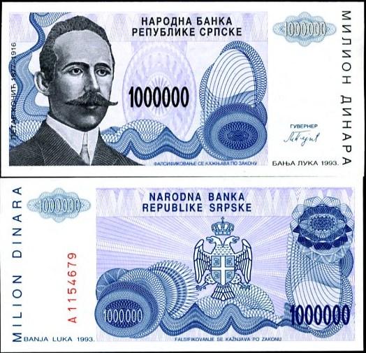 1 000 000 Dinárov Bosna a Hercegovina (Srbsko), Pick 152