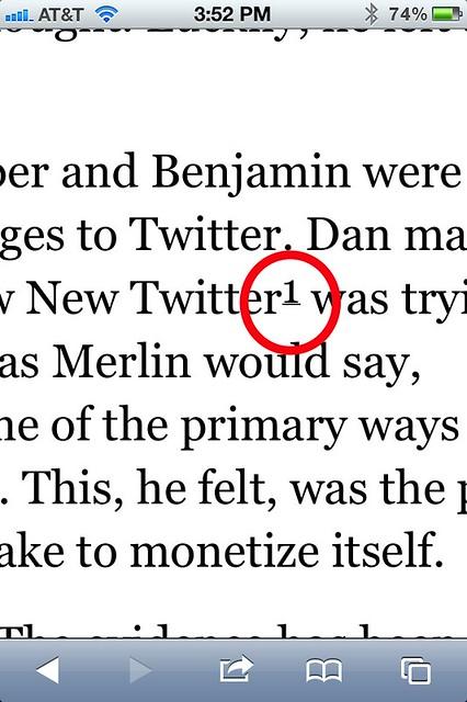 Proper footnote marker position