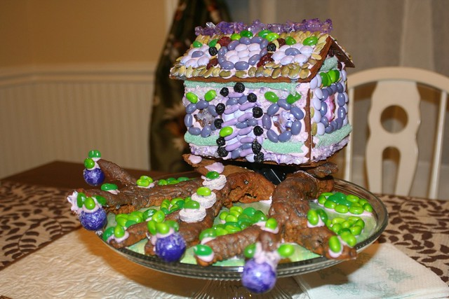The gingerbread treehome of the Sugar Plum Fairies.