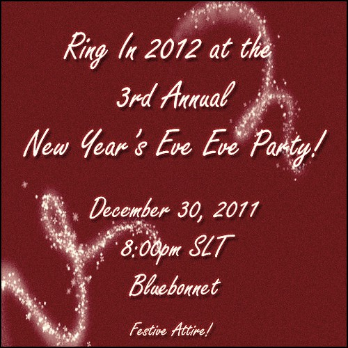 New Year's Eve Eve Invitation!!