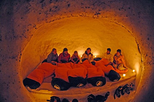 Samen in de iglo. Foto: Engelberg-Titlis Tourismus AG