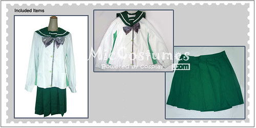 Highschool of the Dead Fujimi Shobo High School Women Uniform Cosplay Costume1