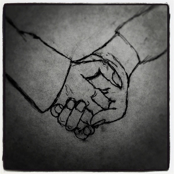 Pencil Drawings of People Holding Hands Pencil Drawings of People