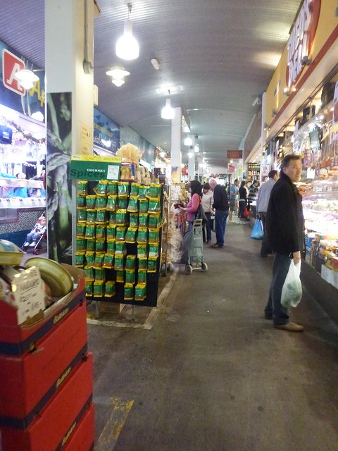 The market has an indoor section for gourmet and deli goods