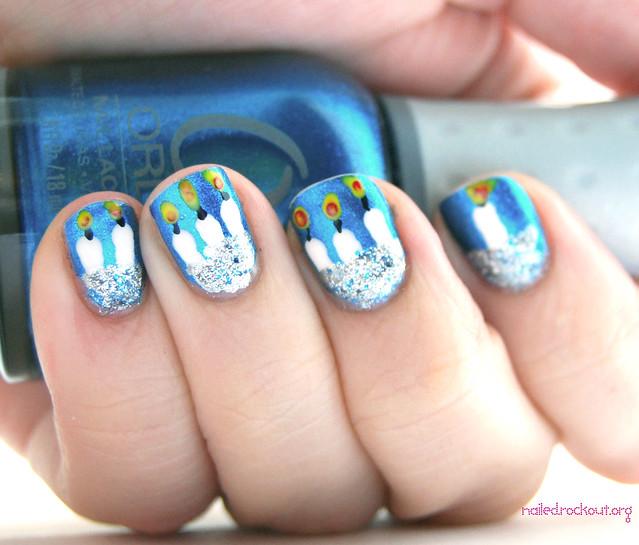 cute holiday nail design