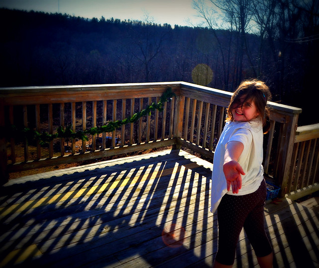 Christmas Eve Day, Baking in the Kitchen & Cartwheels on the Deck