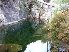 Canyon du Niffru : contournement de la vasque noire