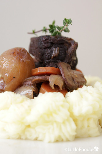 Beef Bourguignon with potato mash