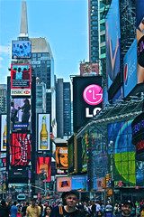 Sunny day at Times Square