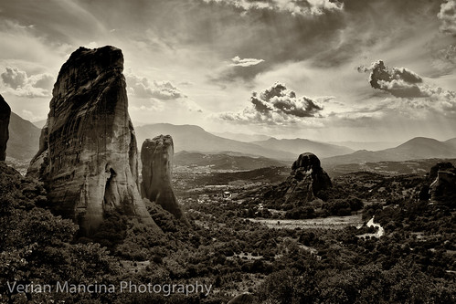 sky blackandwhite bw white mountain nature wall canon wow landscape rocks greece national geology atmospheric geographic whitewall lightroom meteora naturesfinest pindos supershot verian mancina anawesomeshot impressedbeauty monomonday canonblackwhite