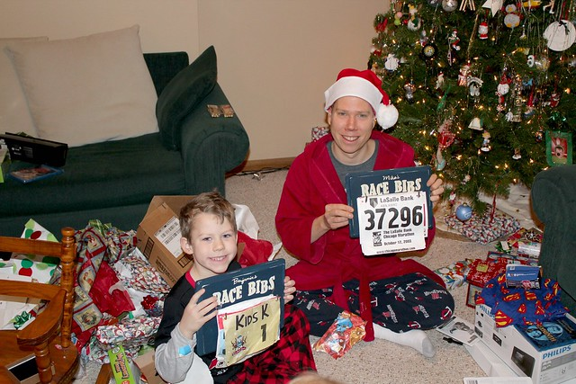 Benjamin and Daddy's Mommy-Made Race Bib Holders