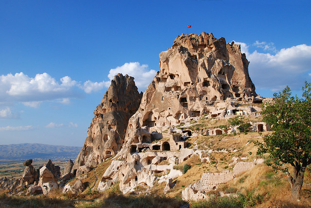 Capadocia, Turquía. Templos y viviendas excavadas en la roca