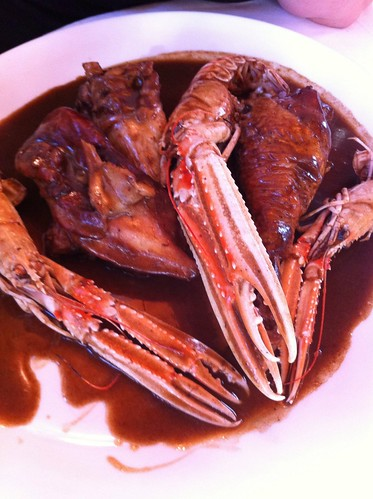 Olot | Restaurant La Deu | Pollo con escamarlanes