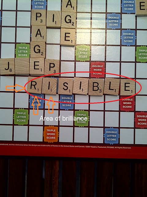 My greatest scrabble move evah