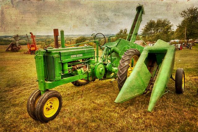 Cartoon Tractor Corn Picker : Johny tractor with corny corn picker flickr photo sharing