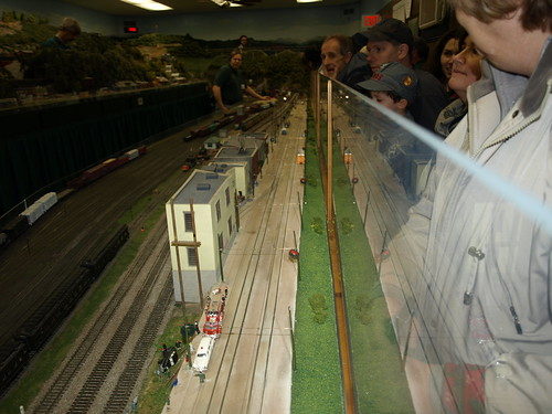 Northern Virginia Model Railroaders at old Vienna W&OD train station
