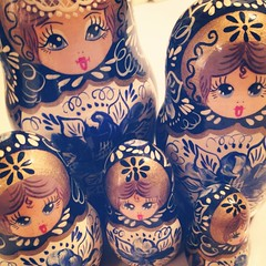 My grandmother's dolls. I miss her dearly.