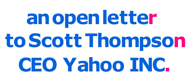 An Open Letter to Scott Thompson