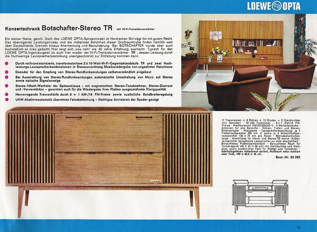 loewe opta radio stereo amplifiers and stereo sets dealer brochure w germany 1966 19 a. Black Bedroom Furniture Sets. Home Design Ideas