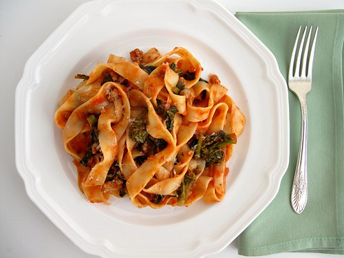 pappardelle with sausage ragu