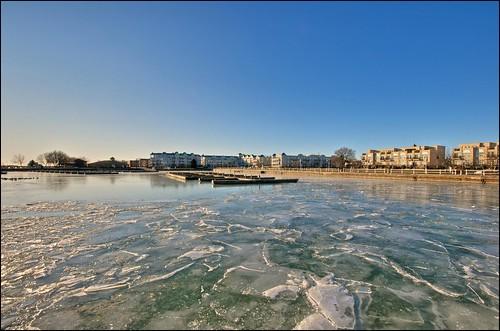 winter ice marina lakeontario hdr cobourg tonemapped