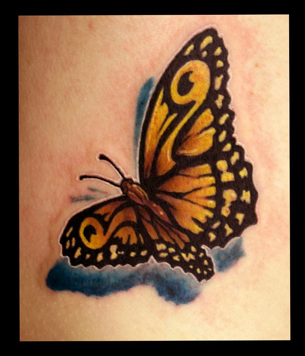 Butterfly memorial tattoo by jackie rabbit a photo on for Butterfly memorial tattoos