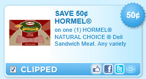 Hormel Natural Choice  Deli Sandwich Meat. Any Variety Coupon