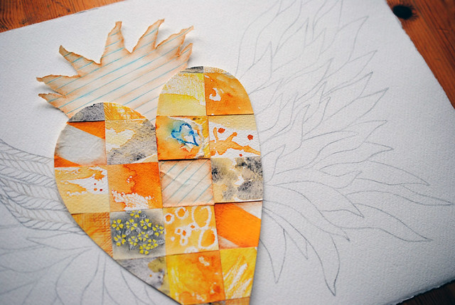 yellow patchwork heart3