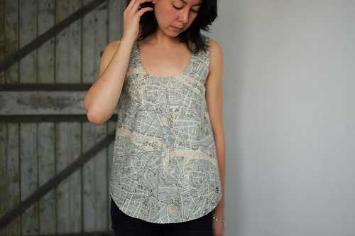 Wiksten Tank : Paris Map Fabric
