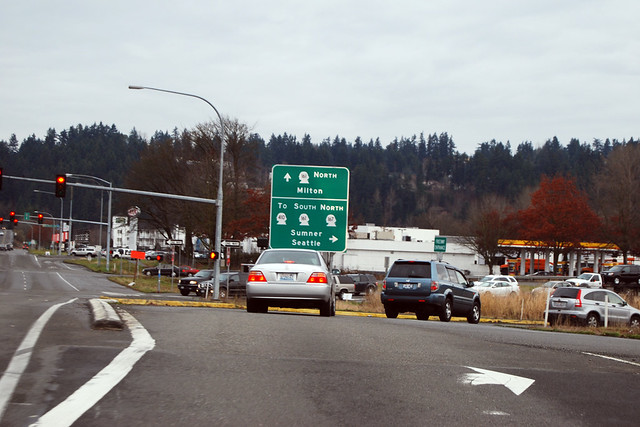 SR 167 @ SR 161 northbound