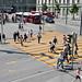 Der Fussgängestreifen vor dem Bahnhof Bern