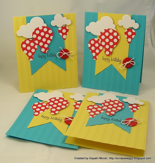 Birthday card set