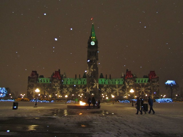 Parliament Hill, Ottawa at Christmas