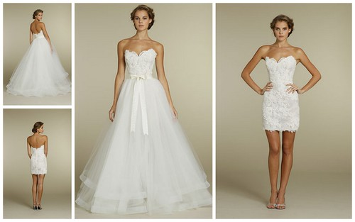 Two Dresses in One Bridal Style by Nina Renee Designs