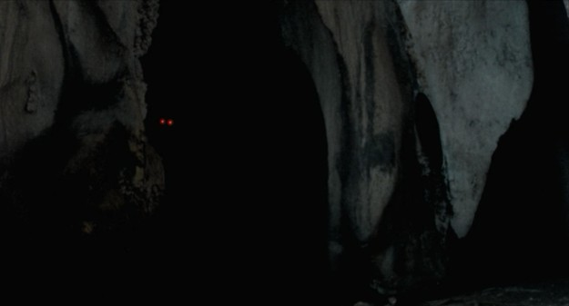 uncle boonmee, past lives, weerasethakul, cave, eyes, red, ghost monkey