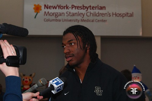 Robert Griffin III and Rockettes at Morgan Stanley Children's Hospital 2011 (11)