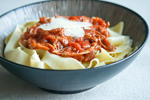 Rustic Pork Ragu with Pasta