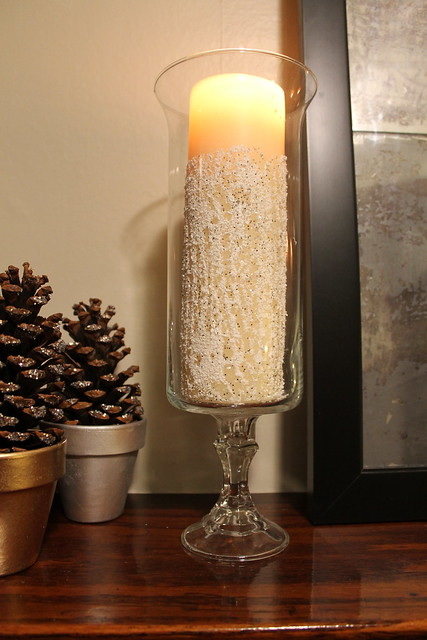 Snow and Glitter Candles