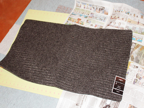 Dark gray utility mat