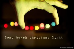 © lomo bokeh christmas light