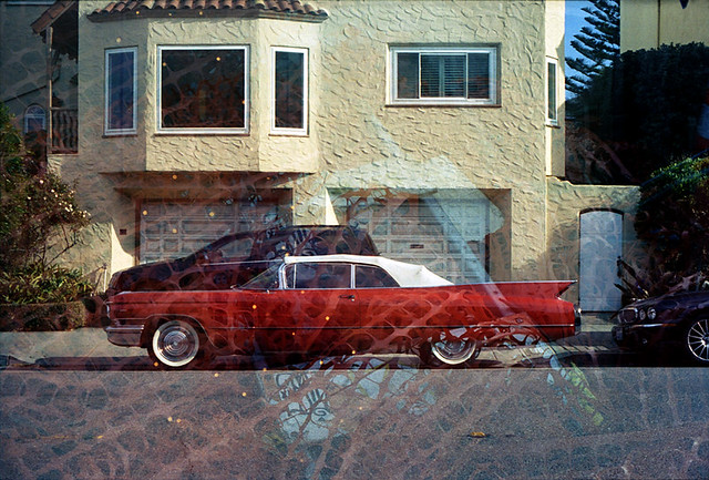 Double Exposure - Car and Warning Tape